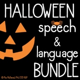 Halloween Speech & Language BUNDLE