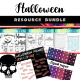 Halloween Bundle of 5 Spooky Resources Includes Clipart an