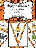 Halloween Bunting: {Cute Happy Halloween Candy Corn Characters Bunting}
