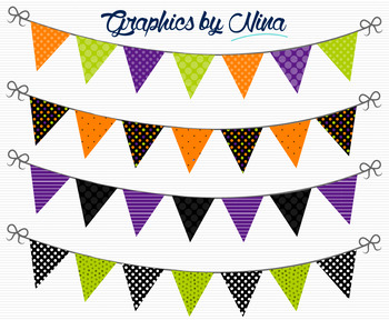 Halloween Bunting Flags Clipart 2