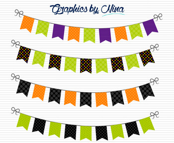 Halloween Bunting Flags Clipart