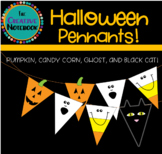 Halloween Bunting | Halloween Pennants | Pumpkin, Candy Corn, Ghost, Black Cat