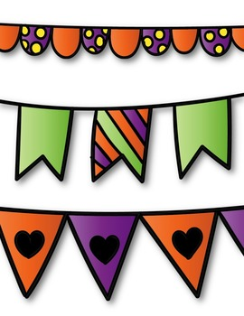 Halloween Buntings Clipart ~ Commercial Use OK ~ Dividers
