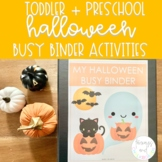 Halloween Busy Binder | Toddler and Preschool Learning Activities