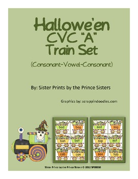 "Hallowe'en CVC ""A"" Train Set"