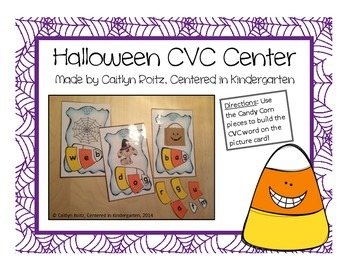 Halloween CVC Candy Corn Center