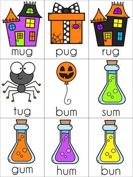 Halloween CVC Cards