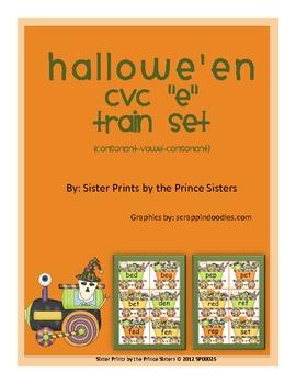 """Hallowe'en CVC """"E"""" Train Set"""