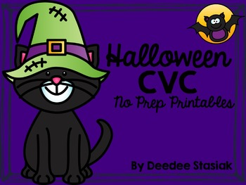 Halloween CVC No Prep Printables