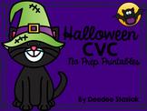 Halloween CVC No Prep Printables