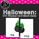 Halloween CVC Rhymes Match Game
