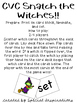 Halloween CVC Snatch Card Games Bundle! Orton-Gillingham Inspired
