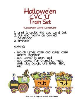 "Hallowe'en CVC ""U"" Train Set"