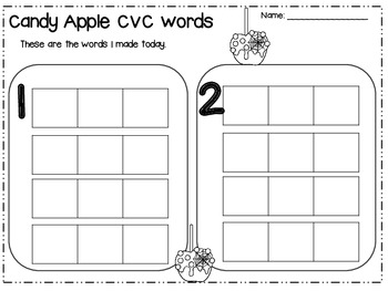 Halloween CVC Word Building (CCSS)