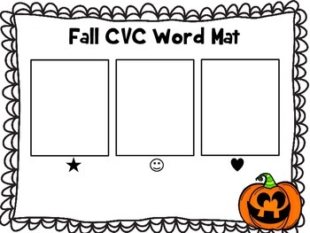 Halloween CVC Word Making and Blending QR Code