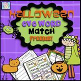 Halloween Activities Kindergarten CVC Words Game FREEBIE!