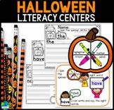 Halloween Literacy Centers Common Core Aligned
