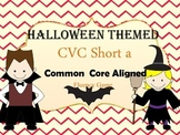 Halloween CVC short a word game for Fluency (Aligned to Co