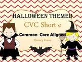 Halloween CVC short e word game for Fluency
