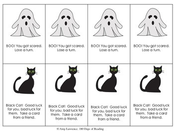 Halloween CVC short e word game for Fluency