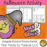 Halloween Phonics Irregular Words Reading English Language Arts Literacy