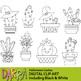 Halloween Cactus Clip Art