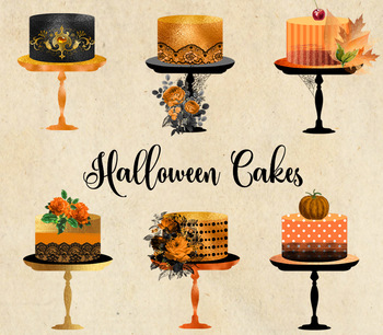 Halloween Cakes Clipart, cupcakes, desserts, candy, sweets png gothic graphics