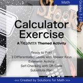 Halloween Calculator Math Activity High School Algebra