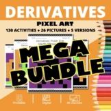 Halloween AP Calculus: Derivatives BUNDLE Pixel Art