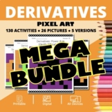 Halloween Calculus Derivatives BUNDLE: Math Pixel Art Myst