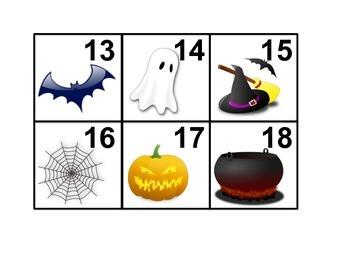 Halloween Calendar Cards