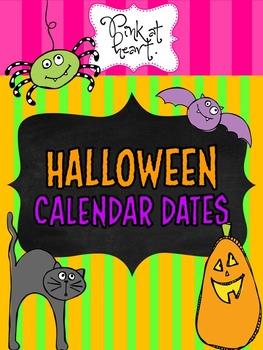 Halloween Calendar Dates
