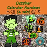 Halloween Calendar Numbers (6 sets) 1-31