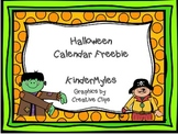 Halloween Calendar Pieces Freebie