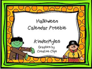 Halloween Calendar Pieces Freebie
