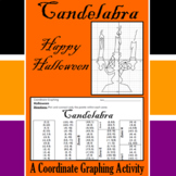 Halloween - Candelabra - A Coordinate Graphing Activity