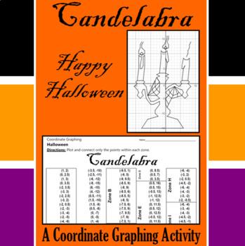 Halloween - Candelabra - A Coordinate Graphing Activity
