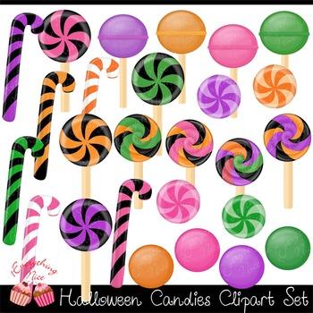 Halloween Candies Clipart Set
