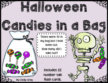 Halloween Candies in a Bag ~ Missing Addend, What makes 10?