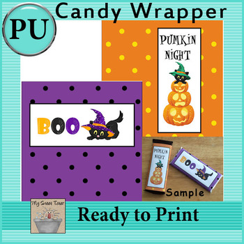 Halloween Candy Bar Wrappers 1 - Set of 2