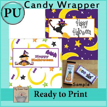 Halloween Candy Bar Wrappers 2 - Set of 2