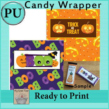 Halloween Candy Bar Wrappers 3 - Set of 2