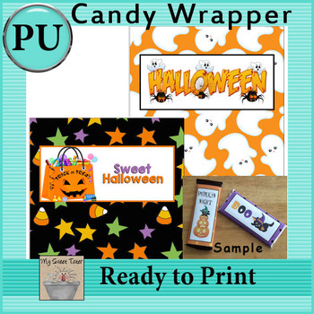 Halloween Candy Bar Wrappers 4 - Set of 2