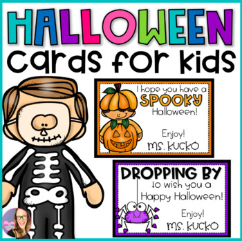 Halloween Candy Cards for Kids