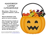 Halloween Candy Categories