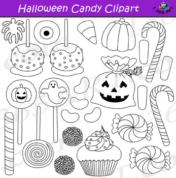 Halloween Candy Clipart Bundle