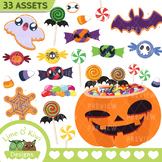 Halloween Candy Clipart | Instant Download Vector Art