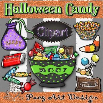Halloween Candy Clipart {Paez Art Design}