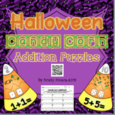 Halloween Candy Corn Addition Puzzles