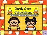 Halloween Candy Corn Calculations-Math Task Cards